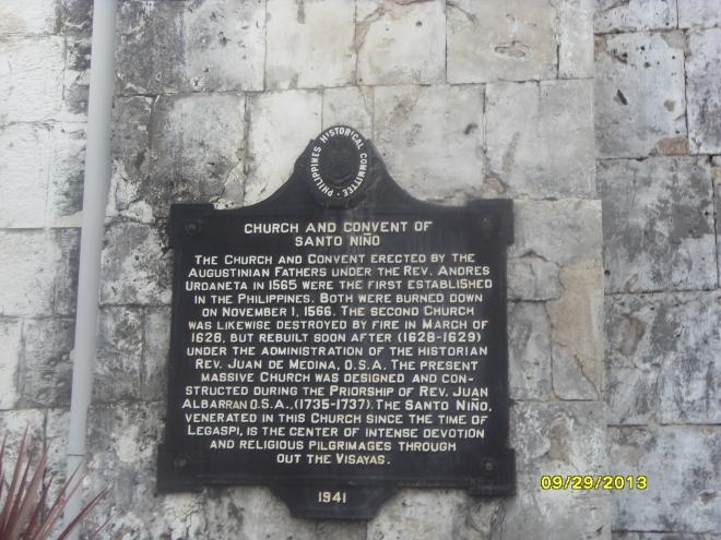 Sto. Nino Church Signage
