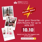Zen Rooms 10.10.Sale!