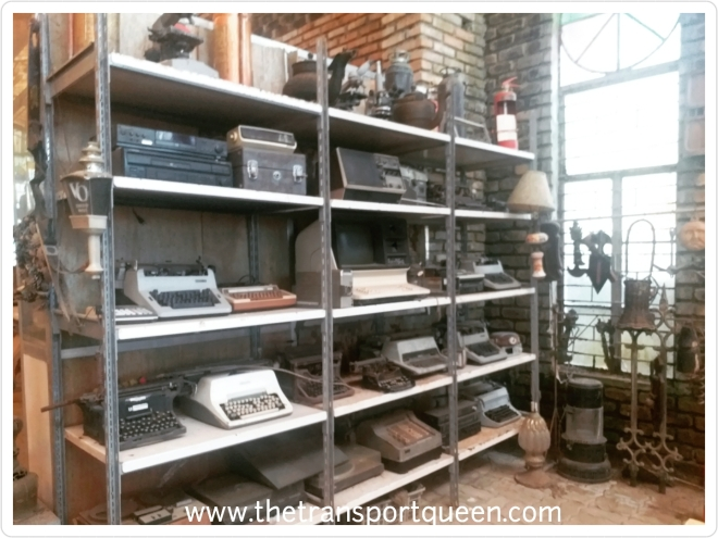 collection of typewriters