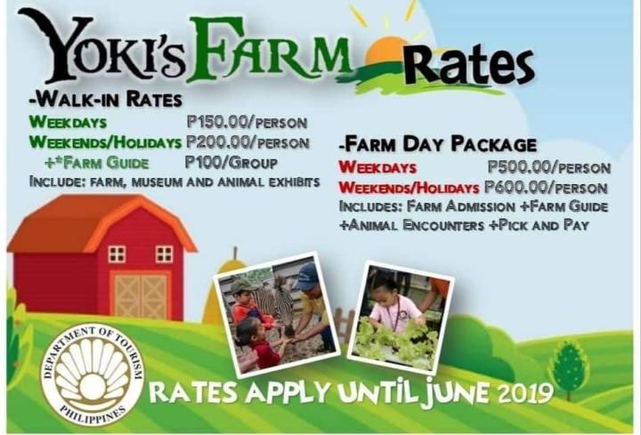 YOKI'S FARM RATES