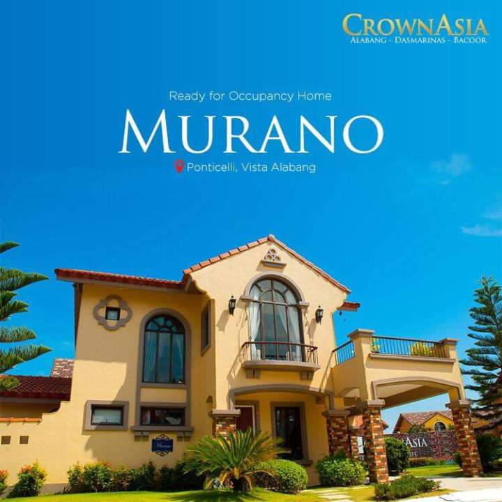 Crown Asia's Premium – Murano House Model – Ready for Occupancy