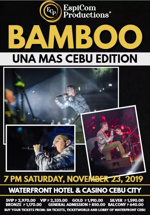 BAMBOO – The Prince of Rock goes to Cebu in his Bamboo:Una Mas Cebu Edition 2019 – The TransportQueen