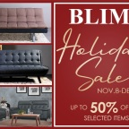 BLIMS Holiday Sale! Yours for grabs up to 50% OFF!