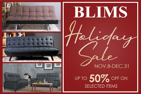 BLIMS Holiday Sale! Yours for grabs up to 50%OFF!