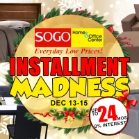 SOGO Home and Office Center Installment Madness! Get your dream furniture at 0% interest!