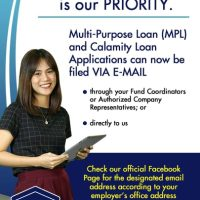 CALAMITY AND MULTI-PURPOSE LOAN CAN NOW BE APPLIED ONLINE!