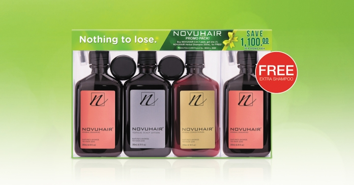 FREE Extra NOVUHAIR Herbal Shampoo                   Exclusive atWatsons